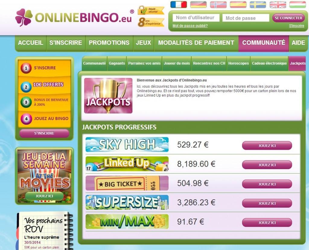 Jackpot Online Bingo